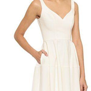 Jill Jill Stuart Sweetheart Neck Dress White